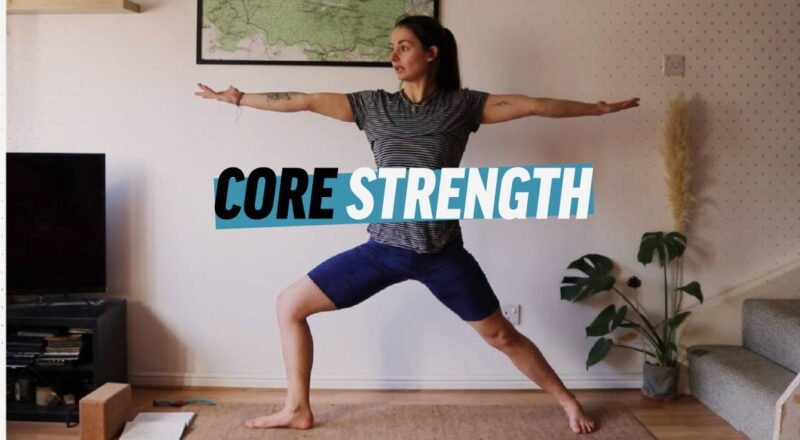 Title screen for core strength training video