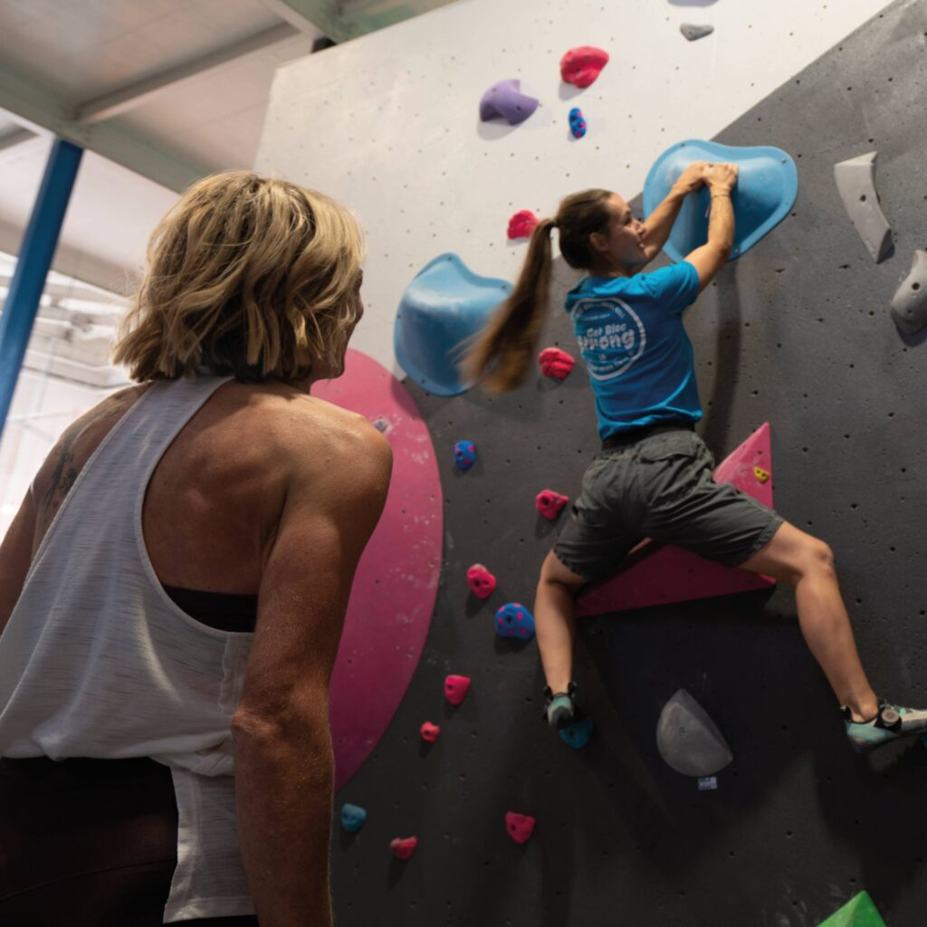 womens climbing coaching in leeds